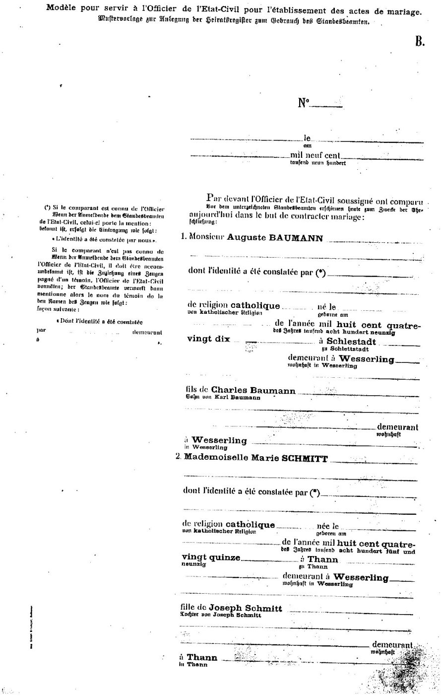 certificat de mariage - Acte De Mariage Nante